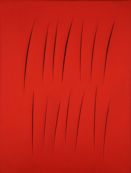 Lucio Fontana, Concetto Spaziale, Attese. Executed in 1965. Image courtesy Christie's Images Ltd.