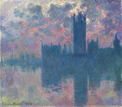 Claude Monet, Le Parlement, Soleil Couchant, oil on canvas, 1901. Image courtesy Christie's Images Ltd.