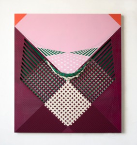 Cristina Camacho, Six Squares, Acrylic on Canvas. Image courtesy Praxis Gallery