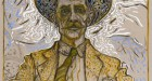 Billy Childish, Self Portrait with Tie. Oil and Charcoal on linen