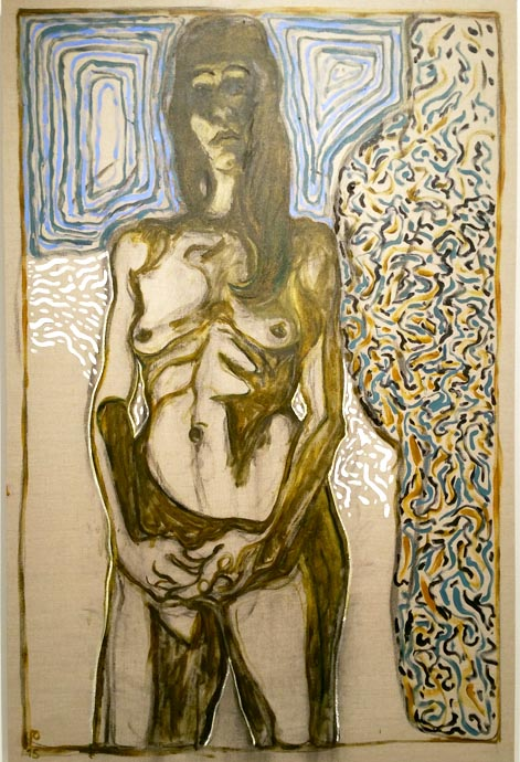 Billy Childish, Juju 2015 oil and charcoal on linen