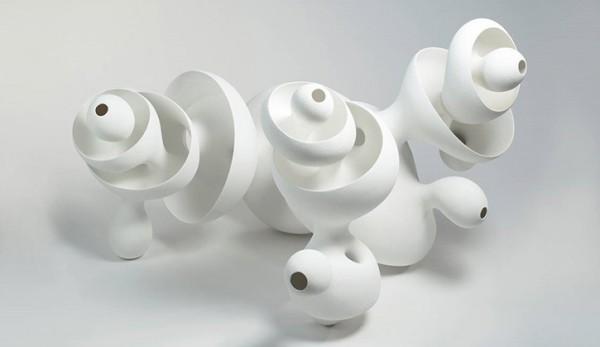 Eva Hild, Sinkhole. Hand molded porcelain. Image courtesy Galleri Andersson/Sandström