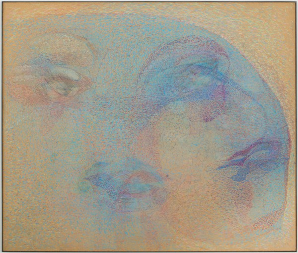 Marisa Merz, Senza titolo Pastel on panel in iron frame. Courtesy Gladstone Gallery