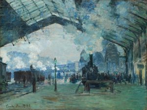 Claude Monet, 'Arrival of the Normandy Train, Gare Saint-Lazare', 1877. In the collection of the Art Institute of Chicago