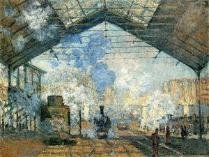 Claude Monet, 'La Gare Saint-Lazare', 1877. In the collection of the Musee d'Orsay, Paris