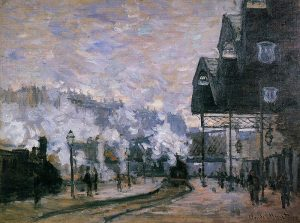 Claude Monet, 'Saint-Lazare Station, the Western Region Goods Sheds' 1877. Private Collection.