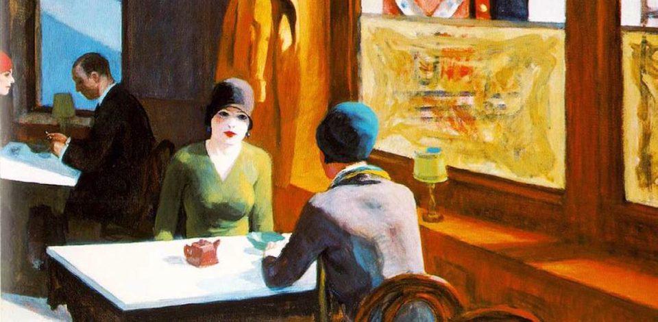 Edward Hopper,' Chop Suey', 1929. Oil on canvas. Collection of Barney A. Ebsworth