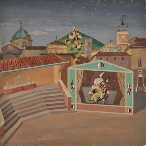 Gino Severini, Scena unica per L'Amfiparnaso di O. Vecchi, 1938 Museo Novecento