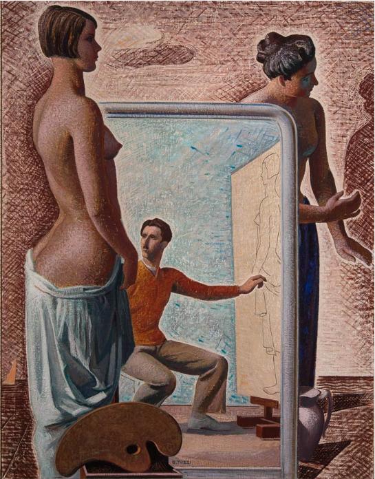 Mario Tozzi, L'officina dei sogni (l'artista nel suo cosmo), 1929 Museo Novecento, Florence