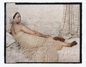AIPAD 2017. Lalla Essaydi, 'La Grande Odalisque'. ©Lalla Essaydi, Courtesy Edwynn Houk Gallery