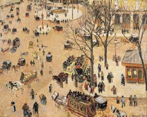 Camille Pissarro, 'La Place du Théâtre Français', 1898. Oil on canvas. Los Angeles County Museum of Art.jpg