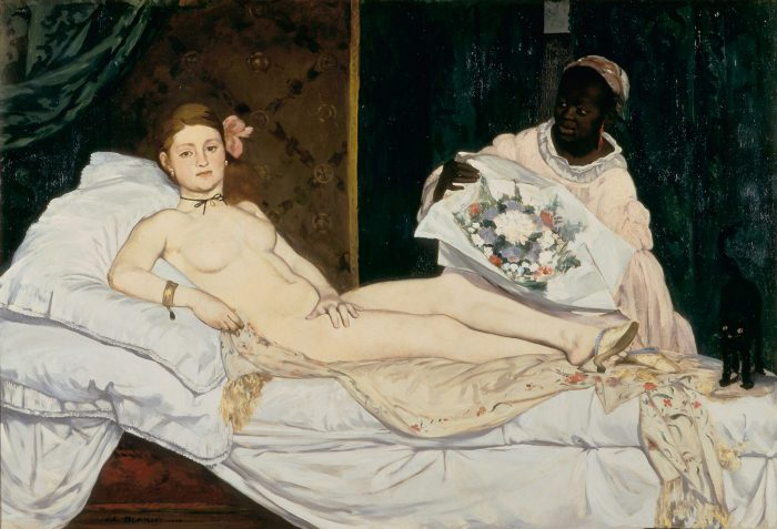 10 Impressionists. Edouard Manet, 'Olympia', 1863. Oil on canvas. In the collection of The Musee d'Orsay