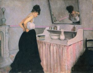 Gustave Caillebotte, 'Woman at a Dressing Table', 1873, Oil on canvas. In private collection.