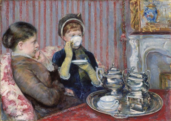 Mary Cassatt, 'The Tea'. Oil on canvas, 1880. In the collection of the Museum of Fine Arts, Boston
