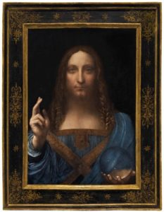 Leonardo da Vinci, Salvator Mundi, ca 1500. Christie's New York. Sold for $400 million